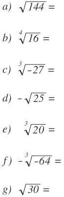 root square of negative numbers