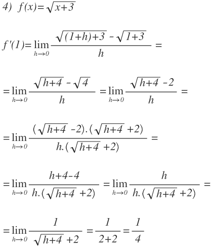 derivative definition of a function