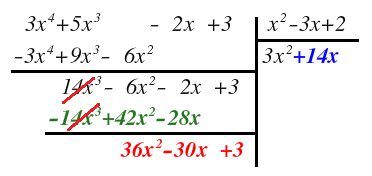 division of a polynomial into another polynomial
