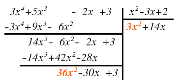 division of polynomial by polynomial