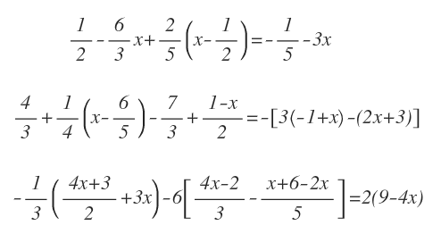 first-degree equations