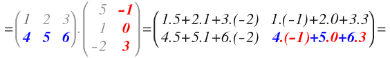 multiplication of solved example matrices