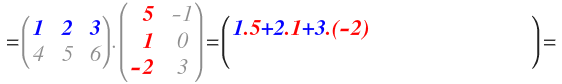 multiplication of matrices exercises solved step by step