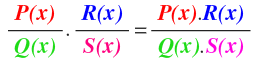 multiplication of algebraic fractions