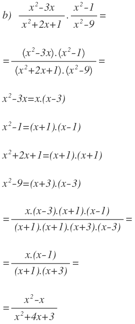 algebraic multiplications
