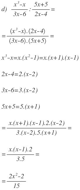algebraic divisions