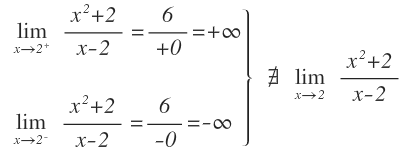 limit when x tends to a number