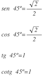 exact values of trigonometric ratios for the angles 30 45 and 60